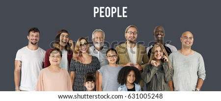 Diversity of People Generations Set Together Studio Isolated #631005248