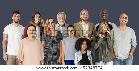 Diversity of People Generations Set Together Studio Isolated #652348774