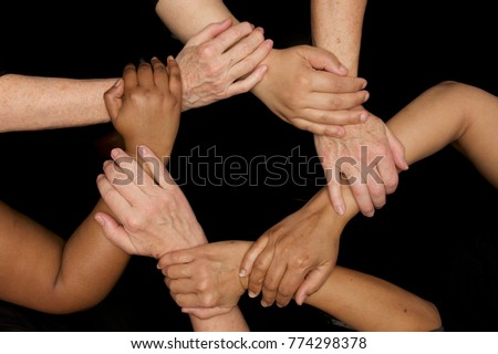 diversity of women hands and woman's empowerment