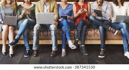 Diversity People Connection Digital Devices Browsing Concept #387341530