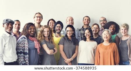 diversity people group team...