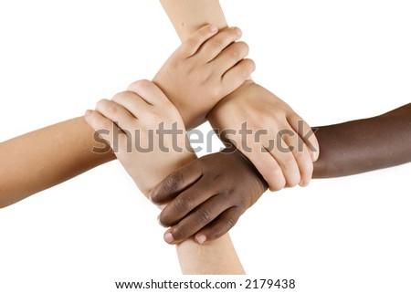Diversity Series - Four children linking hands.