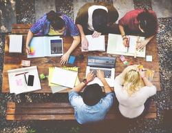 Diversity Teamwork Brainstorming Meeting University Concept
