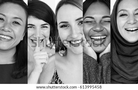 diversity women smiling...