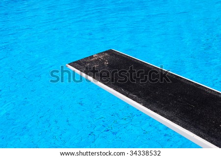 Diving board at a swimming pool