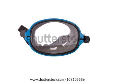 Diving gear - diving goggles and snorkel, isolated on white
