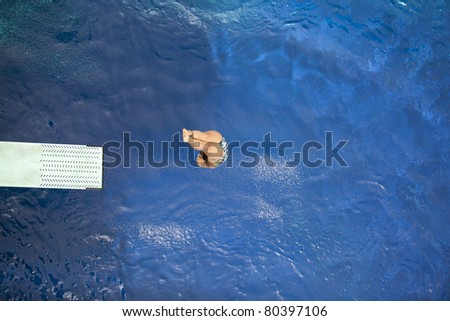 Diving into the pool