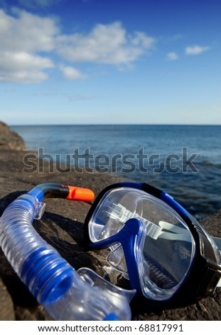 Diving mask and snorkel, Lanzarote