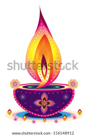 Diwali Candle Light Indian new year celebrating oil lamp
