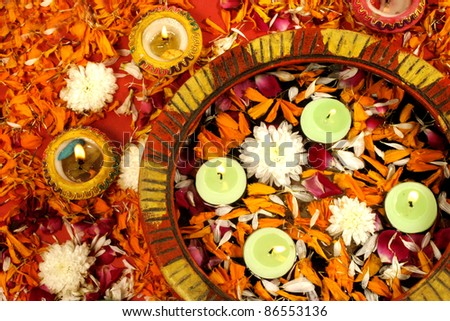 Diwali Decoration on traditional Indian festival of lights