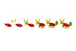 DIY dry leaf clip-art for kids, tutorial