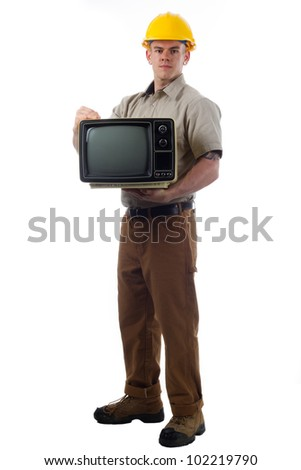 DIY Handy Man with TV television