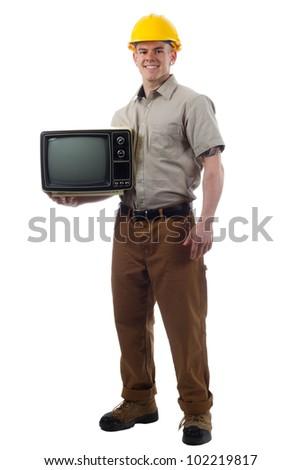 DIY Handy Man with TV television