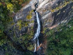 Diyaluma Falls in Koslanda Badulla in Sri Lanka
