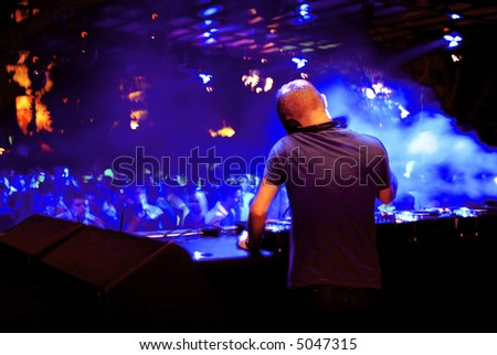 DJ at a club