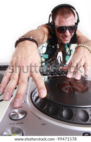 DJ at play