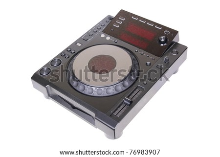 Dj cd player, isolated on white