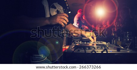 DJ Music night club,music star dj background