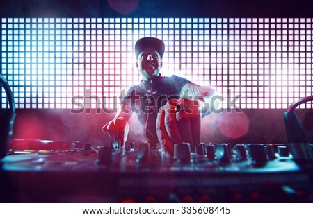 DJ on Turntables