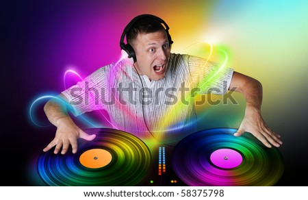 DJ plays a vinyl concept