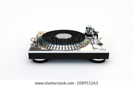 dj set isolated on white background