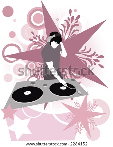 Dj Super Star (great for your design and art-work,all elements made by me)