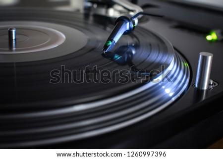 DJ Turntable closeup