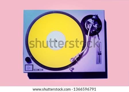 DJ Turntable Coloration