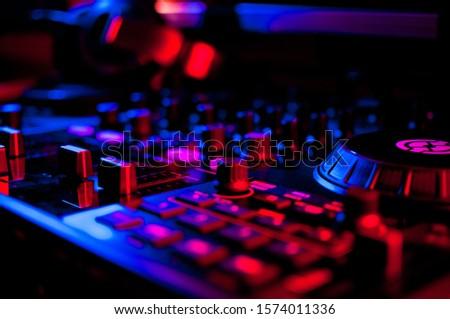 DJ Turntables Decks Equipment Table