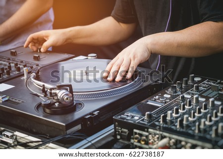 DJ with Turntables Music entertainment Event
