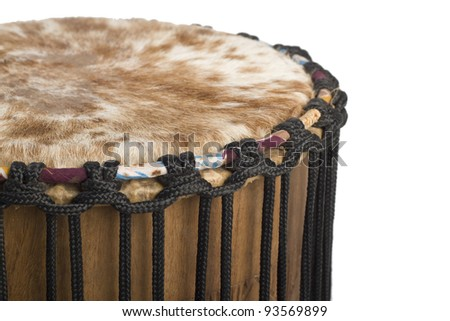 Djembe, African drumming music instrument