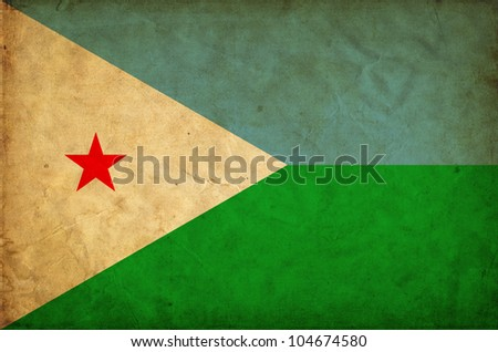 Djibouti grunge flag