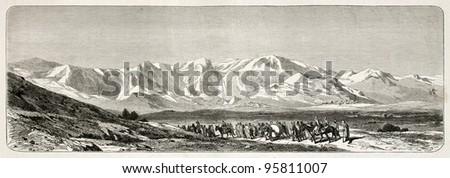 djurdjura mountains range old...