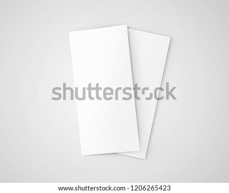 Dl Bifold Brochure Open White Blank