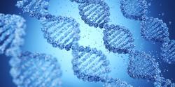 DNA biotechnology science medicine genetic concept. 3d render Illustration.