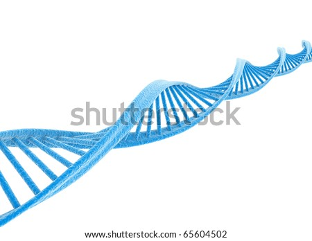 DNA blue isolated on white