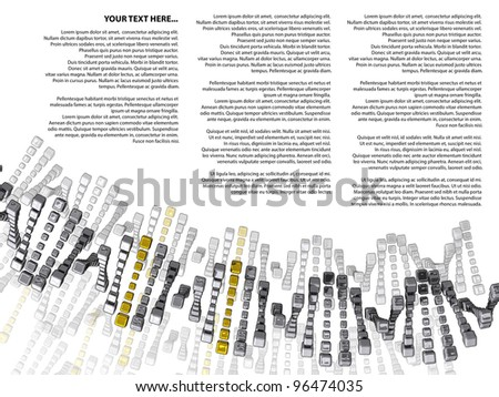 DNA cubes Silver and Gold with sample text on a white background