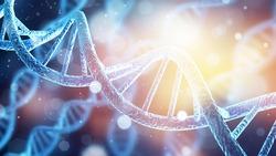 DNA gene helix spiral molecule structure