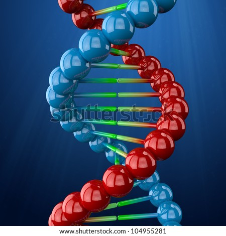 DNA helix. Genetic engineering scientific concept