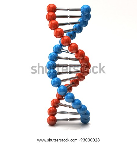 Dna icon on white background