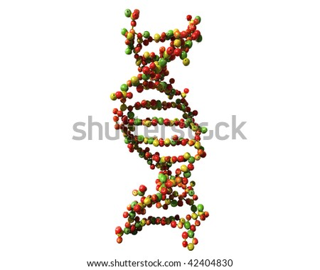 DNA isolated. made from apples