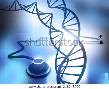 DNA molecule abstract science background
