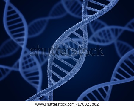 DNA molecule Biology science and medical technology concept
