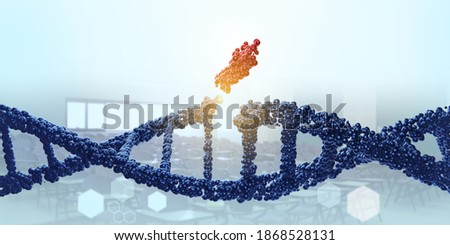DNA molecule. Genetic editor, manipulating and modifying the DNA concept. Medical science 3D rendering Stock photo ©