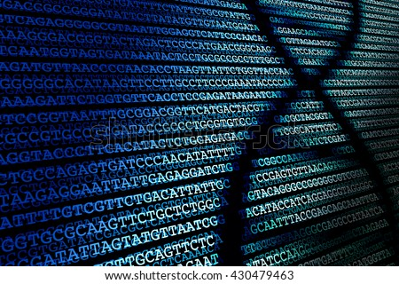 DNA sequence / Abstract background of DNA sequence
