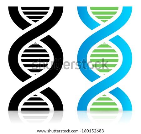 DNA strand icon (raster version)