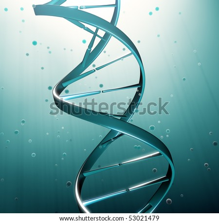 DNA strand iluustration genetic research