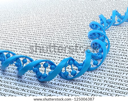 DNA strand sequencing concept illustration