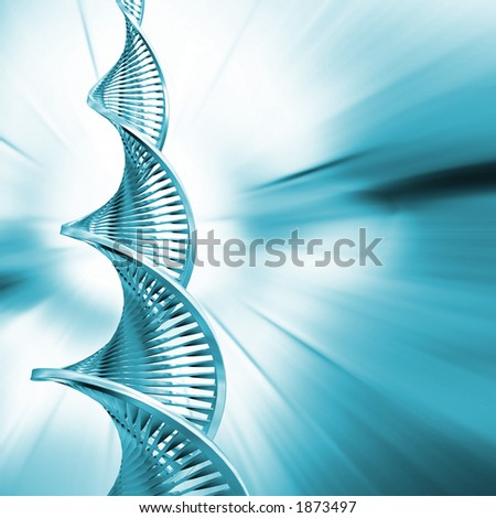 DNA strands on abstract background