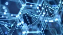 DNA structure illustration on background